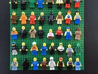 Huge LEGO Minifigure Lot of 10 Random City Town Ninjago Police Fire Space & More