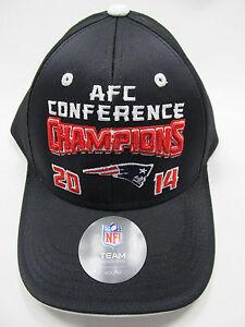 New England Patriots Hat Black 2014 AFC Champions NFL Team Apparel Age 8-20 NEW
