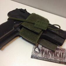 Universal Hook & Loop Combat Pistol Holster Plate Carrier Tactical Rifle Bag ODG
