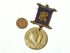 Antique Gilt Commemorative Medal Edward VII Coronation 1902 #G11