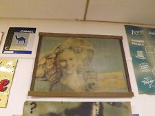 Vintage Cardboard RC Royal Crown Cola Sign In Frame Joan Caulfield Movie