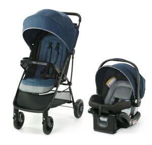 Graco Baby NimbleLite Travel System Stroller w/ Infant Car Seat Belgrade NEW