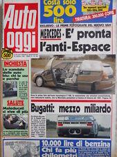Auto OGGI n°203 1990 La nuova Bugatti 110 - Alfa Romeo 33  [Q200]
