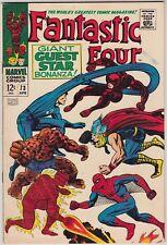 FANTASTIC FOUR #73 MARVEL COMICS FN+ CONDITION SPIDER-MAN/THOR/DAREDEVIL X-OVER