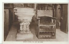 London Postcard - Wesley's Chapel - The Font and Chair - Real Photograph   A2690