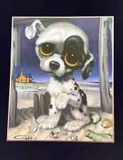 Vintage 1960's Big Eye Pity Puppy on Hardboard by GIG