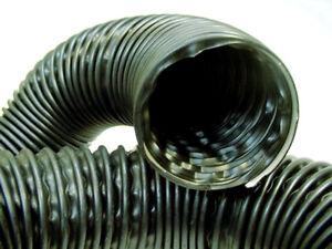 "Chrysler 2.5"" Black Flexible Air Cleaner Hose SOLDx FT Intake Tube Defroster Nos"