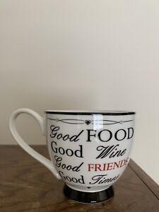 Portobello By Inspire Footed Coffee Tea Cup Mug Fine Bone China
