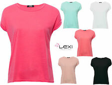 Waist Length Crew Neck Cap Sleeve Tops & Shirts for Women