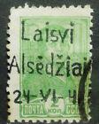 Local Deutsches Reich WWll overprint Laisvi Alsedziai used