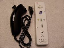 Official Motion Plus Nintendo White Wiimote Wii &U Remote Controller W/Nunchuck