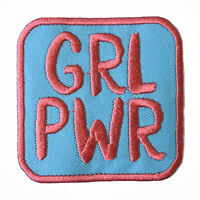 GRL PWR Iron On Patch Embroidered feminism riot grrrl girl power feminist sew on
