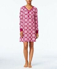 Charter Club Berry Wallpaper Thermal Fleece Sleepshirt Sleepwear Women's Small