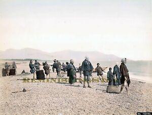 """Kusakabe Kimbei """"  Fishing """" © 1890 Reprint"""