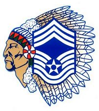 Air Force Chief Master Sergeant with Indian Head Decal