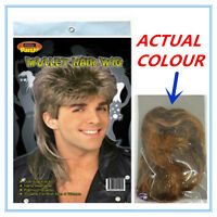 MULLET NOVELTY HAIR WIG SANDY BLONDE COLOUR COLOR  ADULT PARTY CUSTOM POST A