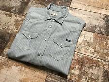 DIESEL Men's Blue Striped Long Sleeve Shirts Size L
