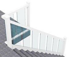 Glass Staircase Banister Set White Primed upto 2.4mbespoke lising livsterlovster