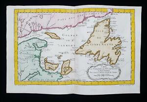 1754 J.N. BELLIN: NORTH AMERICA, CANADA, NEWFOUNDLAND & LABRADOR, GREAT LAKES