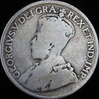 1917 Good+ Canada Silver 25 Cents - KM# 24 - JG