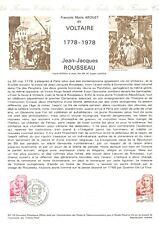 1er jour Timbre sur document philatélique - François Marie AROUET dit Voltaire