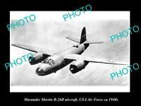 OLD 8x6 HISTORIC AVIATION PHOTO MARAUDER MARTIN B-26B AIRCRAFT USAAF c1940