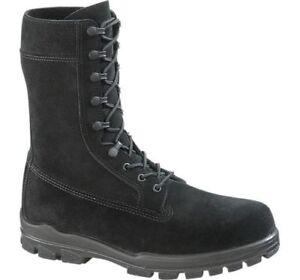 Bates 1421-B Mens 9 Inch Black Suede Durashock Steel Toe Boot FAST FREE USA SHIP