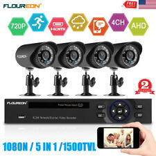 4CH 1080N HDMI DVR 1500TVL Outdoor CCTV Night Video Home Security Camera System