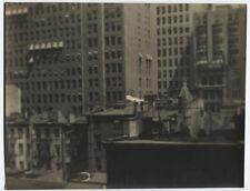VINTAGE PHOTO PICTORIALIST ROOFTOP CITY SCAPE.