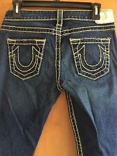 True Religion Jeans, Denim, dark blue, dark wash, Size 29 x 32