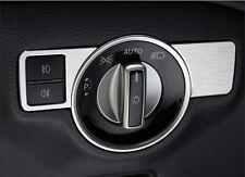 Car Head Lamp Switch Buttons Decor Trim For Mercedes-Benz GLK Class X204 2008-15