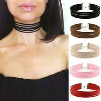 Multilayer Velvet Leather Women Necklace Neck Chain Choker Gothic Punk Jewelry