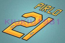 Juventus Pirlo #21 2011-2012 Homekit Nameset Printing