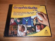America Online's Graphic Suite 2.0 CD ROM Windows Program Edit Tool NEW