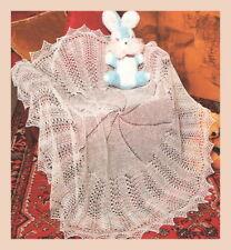 "Beautiful Baby Shawl ""Circle of Love"" Knitting Pattern in 2ply 956"