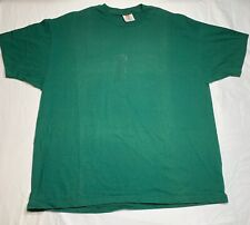 Vintage Hanes Mens Sz XL T-Shirt Green Single Stitch Blank Short Sleeve