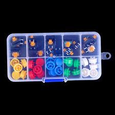 Tactile Push Button Switch Momentary Tact & Cap 12x12x7.3mm Kit Arduino LUyu