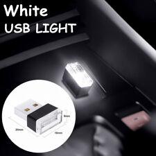 Mini USB White LED Car Interior Light Neon Atmosphere Ambient Lamp Universal Use