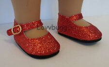 Red Ruby Slippers Mary Jane Dorothy Doll Shoes for 18 inch Doll American Girl