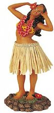 New Hawaiian Hawaii Dashboard Hula Doll Dancer Girl Singing Natural # 40627