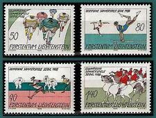 1988 LIECHTENSTEIN N°888/891** JEUX OLYMPIQUES SEOUL VELO GYM...C7€