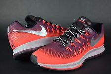 NEW Mens NIKE Air Zoom Pegasus 33 Shield 849564 600 Maroon sz 10 sneakers