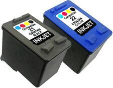 2PK FOR HP 21 HP 22 C9351AN C9352AN Deskjet F325 F310 F370 F300 F350 F380 F385