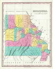 1828 Finley Map of Missouri
