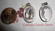 "St Rita - Italian Silver tone OX 1"" Medal"