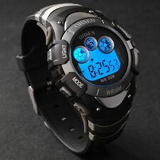 Ohsen Light Date Alarm LCD Digital Sport Quartz Wrist Mens Military Army Watch