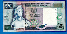More details for rare 1.10.1997 issue # r782696 cyprus p56b 20 pound afxentis afxentiou xf/au