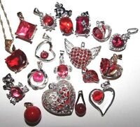 GORGEOUS SELECTION OF SILVER & *RED* PENDANT NECKLACES HEARTS TURTLES TEDDYBEAR