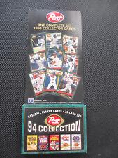 Post Cereal 1994 Baseball Card set.30 cards.Piazza, Puckett,Griffey Jr.Ripken Jr