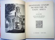 18th Century Architecture in South Africa, Pearse, 1968, 113 plates, Plans etc